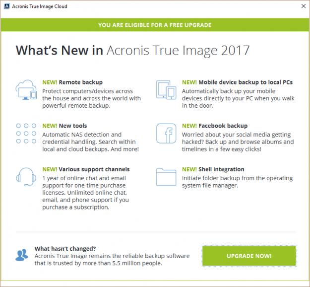 acronis true image full 2017